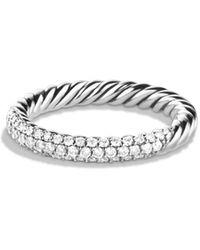 David Yurman - Petite Pavé Ring With Diamonds - Lyst