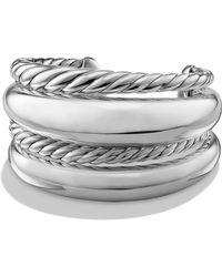 David Yurman - Pure Form Four Row Cuff In Sterling Silver - Lyst