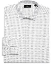 Theory Cedrick Rovall Print Dress Shirt - White