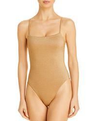 Vitamin A - Jenna Metallic One Piece Swimsuit - Lyst