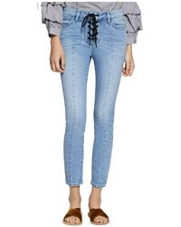 Sanctuary - Robbie Lace-up Cropped Jeans In Evelyn - Lyst