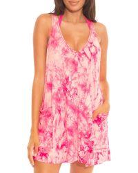 Becca Tide Pool Tie Dye Dress Swim Cover - Up - Pink