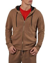 ATM French Terry Zip Hoodie - Brown