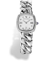 David Yurman Albion 23mm Stainless Steel Quartz Watch With Diamonds - Metallic