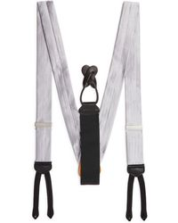 Trafalgar Men's Formal Herringbone Silk Brace - Metallic