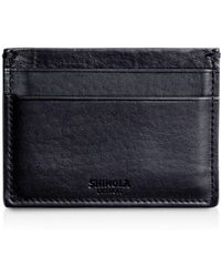 Shinola Leather Card Case - Blue
