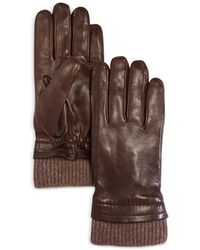 Bloomingdale's The Store At Bloomingdale's Cashmere Lined Leather Gloves - Brown