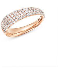 Roberto Coin - 18k Rose Gold Scalare Pavé Diamond Ring - Lyst