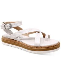 Charles David Chance Croc - Embossed Strappy Sandals - Multicolour