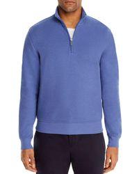 Bloomingdale's Fleece Half - Zip Sweatshirt - Blue