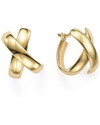 Bloomingdale's - 14k Yellow Gold X Hoop Earrings - Lyst