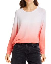 Aqua Tie Dyed Sweatshirt - Pink
