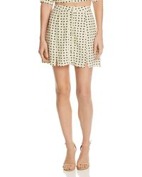 For Love & Lemons - Sweetheart Mini Skirt - Lyst