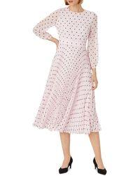 Hobbs Selena Floral Print Midi Dress - Pink