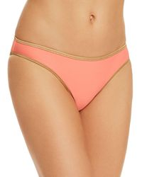 Sam Edelman Moderate Coverage Reversible Bikini Bottom - Pink