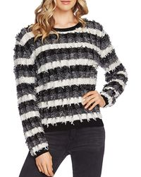 Vince Camuto Striped Eyelash-yarn Sweater - Multicolor