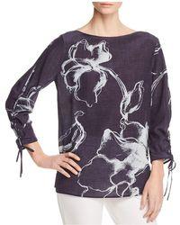 Lafayette 148 New York - Georgina Floral-print Silk Blouse - Lyst