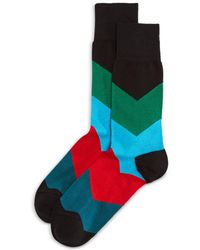 PS by Paul Smith Paul Smith Chevron Stripe Crew Socks - Multicolour