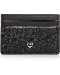 MCM Bric Saffiano Leather Card Case - Black