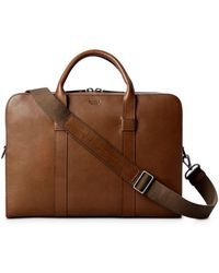 Shinola Men's Guardian Heritage Leather Laptop Briefcase - Brown