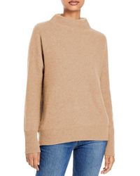 Vince Boiled Cashmere Funnel Neck Sweater - Natural
