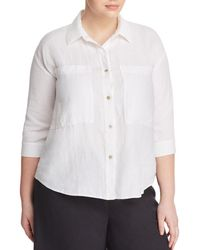 Eileen Fisher - Patch Pocket Shirt - Lyst