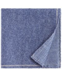Bloomingdale's - Solid Bordered Wool Pocket Square - Lyst
