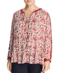 Lucky Brand - Printed Peasant Top - Lyst