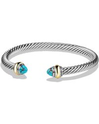 David Yurman - Cable Classics Bracelet With Semiprecious Stones & 14k Gold - Lyst