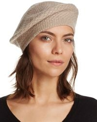 C By Bloomingdale's Waffle Knit Cashmere Beret - Multicolour