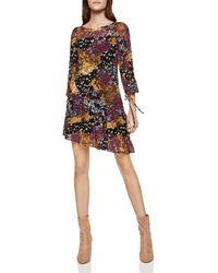 BCBGeneration - Asymmetric Mixed Print Dress - Lyst