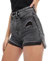 GOOD AMERICAN Good Curve Denim Shorts In Black227 - Multicolour