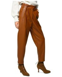 Pinko - Rapito Faux Leather Trousers - Lyst
