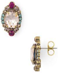 Sorrelli - Eustoma Stud Earrings - Lyst