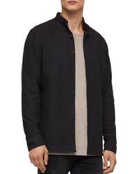 AllSaints - Augusta Slim Fit Button-down Shirt - Lyst