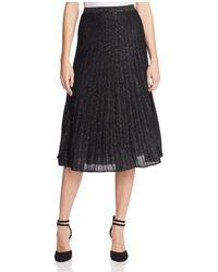NIC+ZOE - Luminary Pleated Metallic Knit Skirt - Lyst