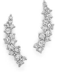 Bloomingdale's - Small Diamond Scatter Ear Climbers In 14k White Gold, .30 Ct. T.w. - Lyst