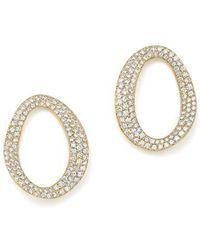 Ippolita - 18k Yellow Gold Cherish Small Link Diamond Earrings - Lyst