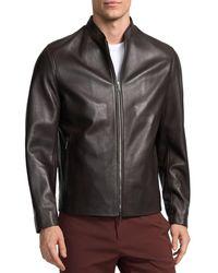 Theory Moore Leather Jacket - Black