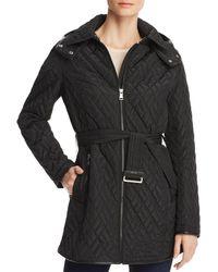 Calvin Klein Belted Quilted Jacket - Black