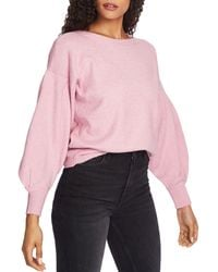 1.STATE Blouson - Sleeve Jumper - Pink