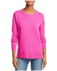 Aqua - High/low Cashmere Sweater - Lyst