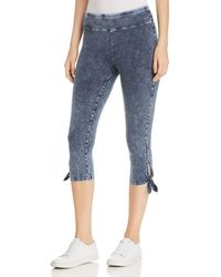 Marc New York - Performance Acid Wash Cropped Tie Leggings - Lyst