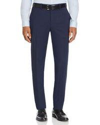 Theory Mayer Tonal Tic Stripe Slim Fit Suit Trousers - Blue
