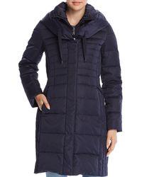 T Tahari Mia Fitted Puffer Coat - Blue