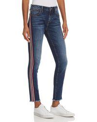 Aqua Side-stripe Skinny Jeans In Medium Wash - Blue