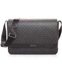 Michael Kors Mason Signature Messenger Bag - Black
