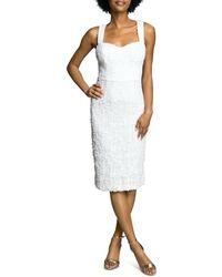 Dress the Population Nicole Sweetheart Neck Sheath Dress - White