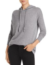 C By Bloomingdale's Cashmere Hooded Jumper - Gray