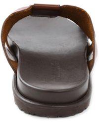 Bruno Magli Empoli Leather Slide Sandals - Brown
